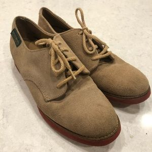 Tan Suede Oxford Casual Dress Shoes—6